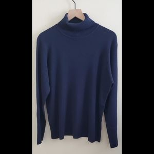 Eileen Fisher 100% Wool Ribbed Turtleneck Size L